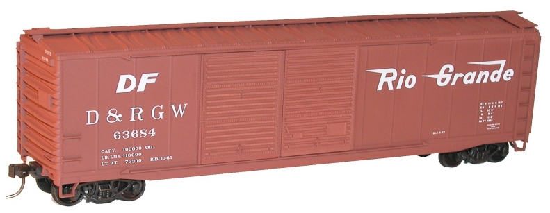 Accurail 52051 50' Double Door Riveted-Side Boxcar, Denver & Rio Grande Western, HO