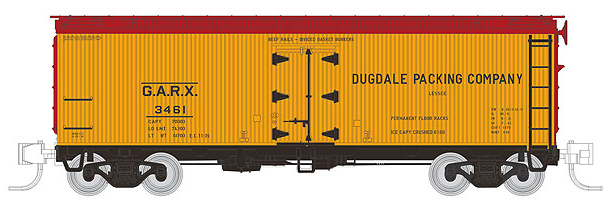 Rapido 521010 General American 37' Meat Refrigerator Car, DUGDALE - SINGLE CAR, N Scale