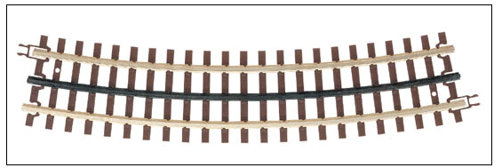 Atlas O 151-6064 21st Century Track System(TM) Nickel Silver Rail w/Brown Ties - 3-Rail -- O63 Full Curved Section (16 pcs./circle), O Scale