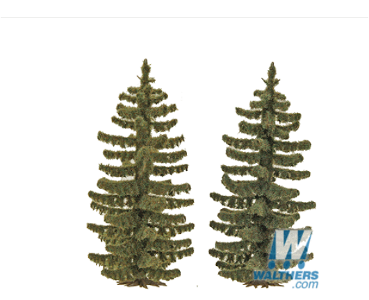 "Busch Gmbh & Co Kg 189-6132 Spruce Trees pkg(2) -- 2-13/16"" 70mm Tall, HO"