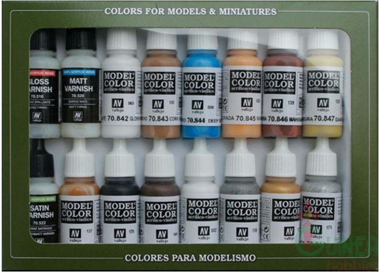 Vallejo Acrylic Paints 70102 Folkstone Specialist 16 color sets