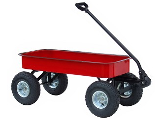Morgan Cycle 71118 Classic Junior Size Steel Wagon in RED