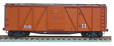 Accurail 7199 6-Panel Outside Braced Boxcar with Dreadnaught Ends, Data Only Oxide, HO