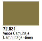 Vallejo Acrylic Paints 72031 GAME COLOR CAMO GREEN 17ml 6p