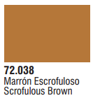Vallejo Acrylic Paints 72038 GAME COL SCROFULOUS BROWN
