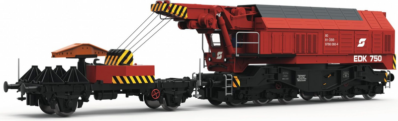 Roco ROC73036 Slewing Railway Crane for Digital Operation, OB, DCC Sound, HO