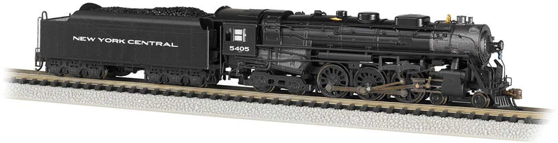 Preorder Bachmann 53651 4-6-4 Hudson - Sound and DCC -- New York Central 5405 (black, graphite, Gothic Lettering), N Scale