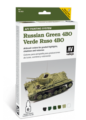 Vallejo Acrylic Paints 78403 AFV Russian Green 4BO, AFV Painting System