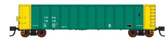 Fox Valley Models 282-83513 Pullman-Standard Coal Gondola - Ready to Run -- Fayette Power FPPX 1510 (Double Rotary, green, yellow), N Scale