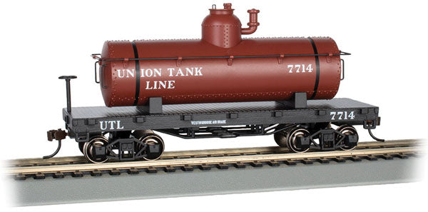 Bachmann 72108 Old-Time Tank Car - Ready to Run - Silver Series(R) -- Union Tank Line UTLX, HO Scale