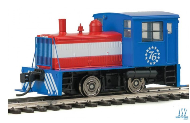 Walthers Mainline 910-20008 Plymouth ML-8 Industrial Switcher w/ESU DCC Only -- Bicentennial (red, white, blue), HO