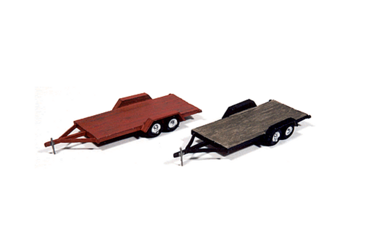 JL Innovative Design 923  WOOD DECK TANDEM TRAILERS, HO