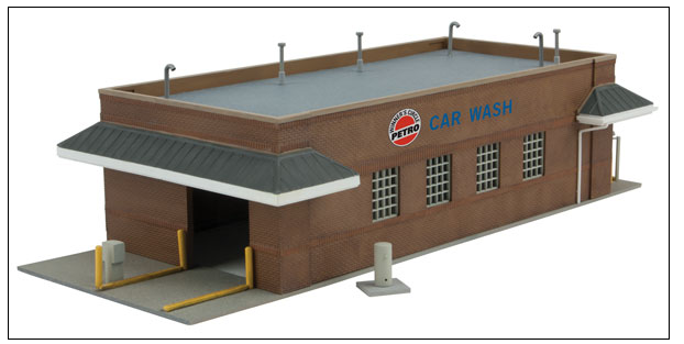 "Walthers Cornerstone 933-3539 Gas Station Car Wash -- Kit - 10-1/2 x 4-13/16 x 3"" 26.6 x 12.2 x 7.6cm, HO"
