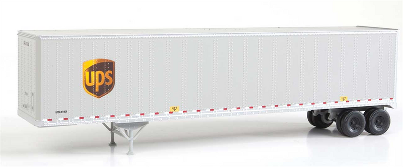 Walthers SceneMaster 949-2256 48' Stoughton Trailer 2-Pack - Assembled -- United Parcel Service, HO