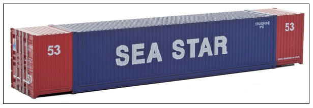 Walthers SceneMaster 949-8517 53' Singamas Corrugated-Side Container - Ready to Run -- Sea Star (blue, red, white), HO
