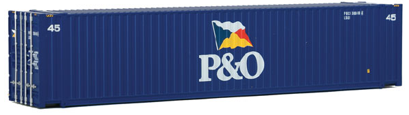 Walthers SceneMaster 949-8566 45' CIMC Container - Assembled -- P&O (blue, white, Flag Logo), HO