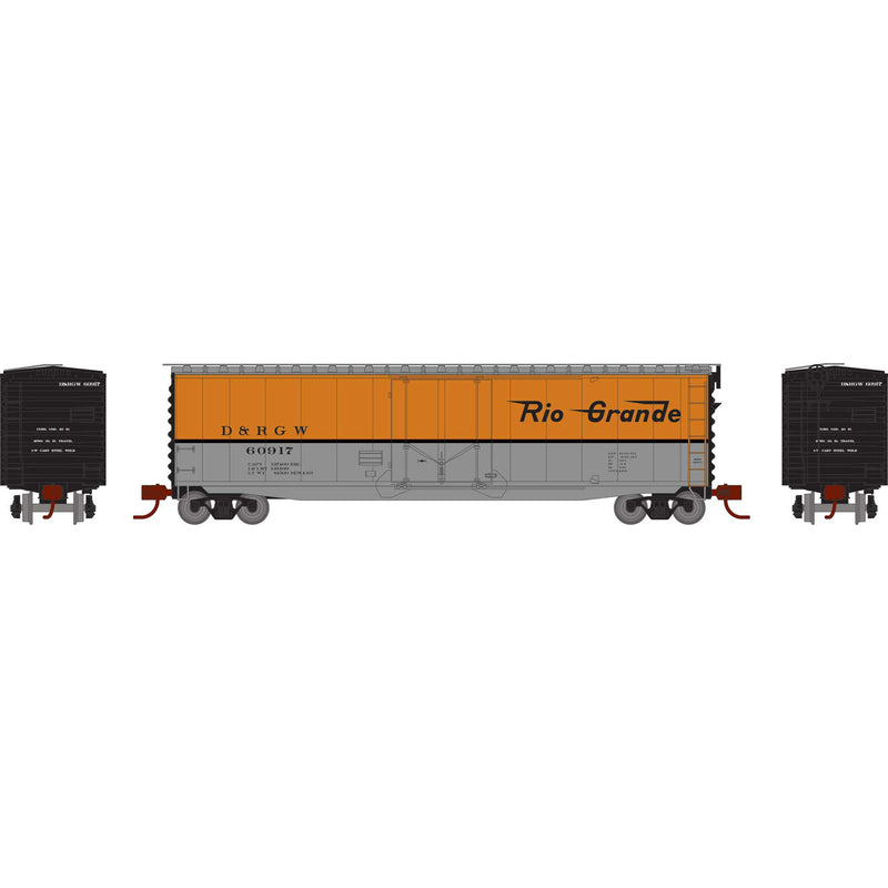 PREORDER Athearn N 50' PS-1 Plug Door Smooth Side Box, D&RGW
