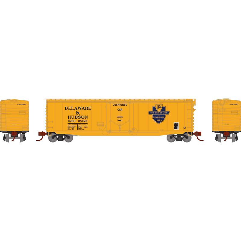PREORDER Athearn N 50' PS-1 Plug Door Smooth Side Box, D&H