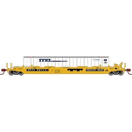 PREORDER Athearn N 48' Husky Stack Well,DTTX/48' ITEL