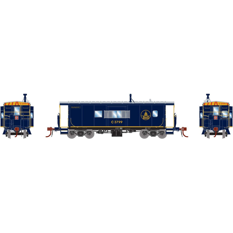 Athearn ATHG78528 ICC Caboose Equipped with DCC & Lights, B&O