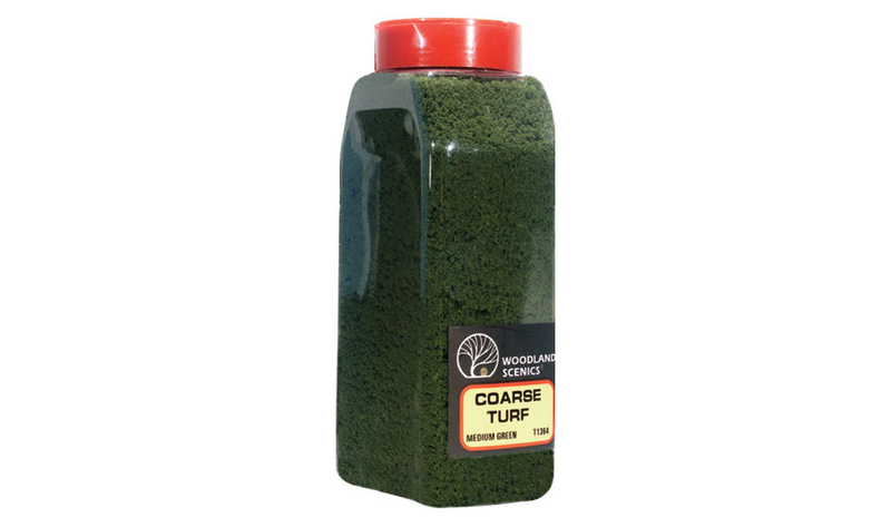 Woodland Scenics -1364 - Coarse Turf Medium Green Shaker