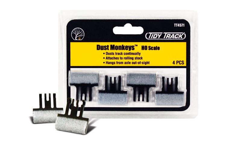 Woodland Scenics TT4571 Tidy Track Dust Monkeys Ho Scale