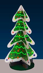 Miller 2009 3D animated Christmas tree, HO/O/N Scale