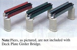 "Kato N Scale Unitrack 20464 - 124mm (4 7/8"") Deck Plate Girder Bridge, Black"