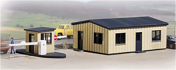 Walthers 933-3517  Office & Guard Shack, kit, HO