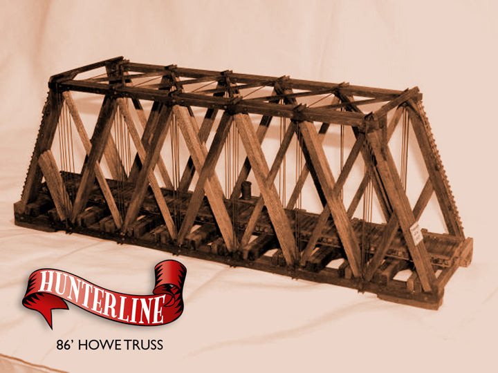 HunterLine HLNHOWE 86' Howe Truss Bridge Kit, N scale