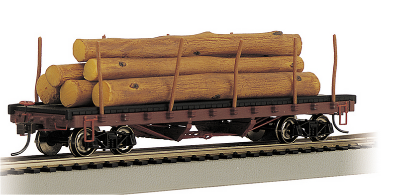 Bachmann 18332 ACF 40' Log Car - 1906-1935 Version, HO