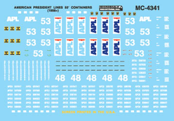 Microscale Inc 460-604341 APL 53' Containers