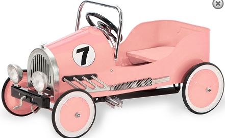 Morgan Cycle 21113 Retro Style Steel Pedal Car PINK