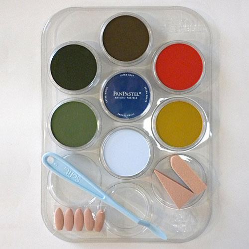 PanPastel Weathering Colors 30703 Scenery Color Kit (7 9ml pan colors, tray, tools)