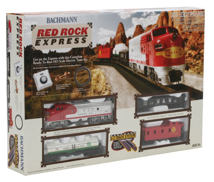 Bachmann 00678 Red Rock Express Train Set, SF, HO