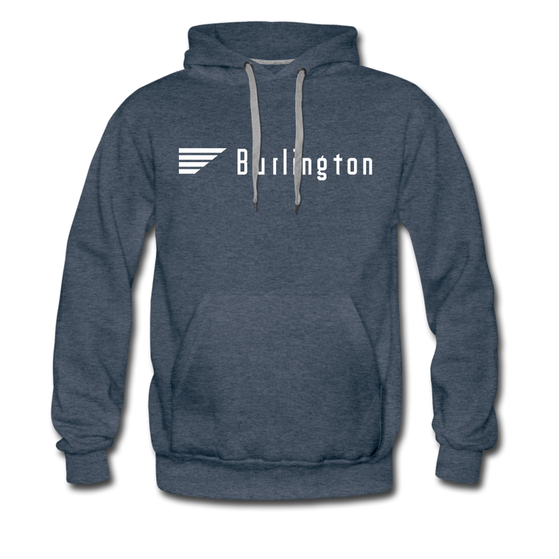 Burlington - Men's Premium Hoodie - heather denim