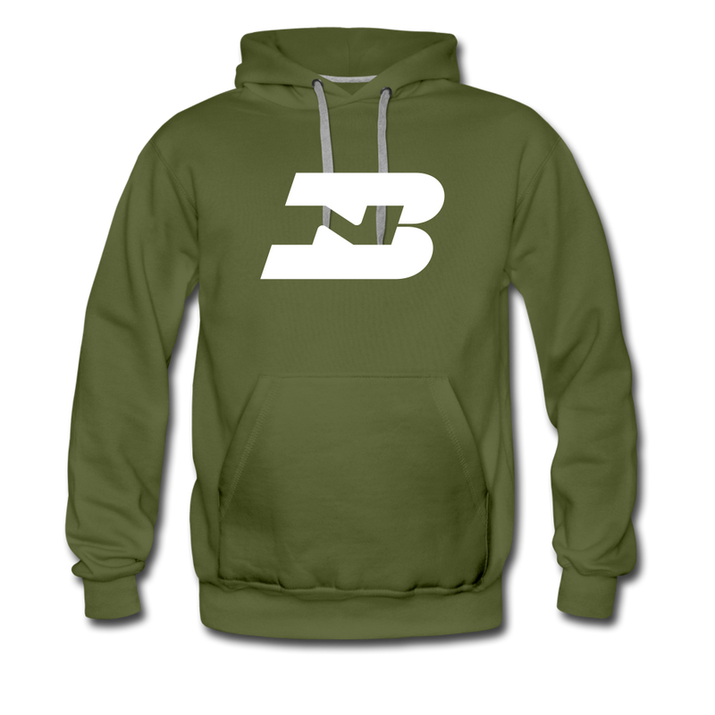 Burlington Northern - Men's Premium Hoodie - olive green