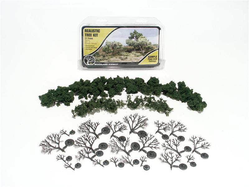 Woodland Scenics TR1111 Realistic Tree Kit, 21 Trees