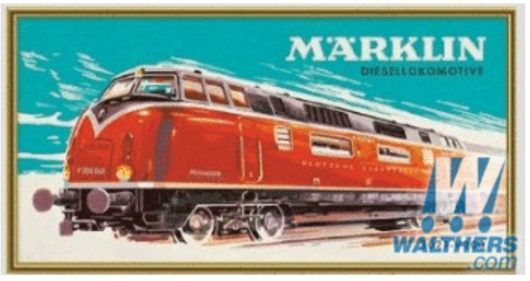Marklin, Inc 441-15966 Marklin V200 Diesel Locomotive Paint-by-Numbers Set