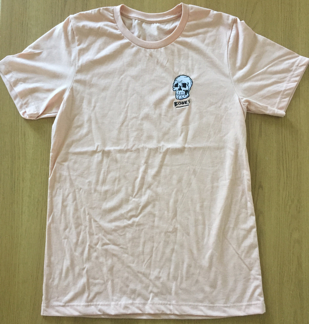 Bones peach embroidered tee