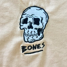 Load image into Gallery viewer, Bones peach embroidered tee