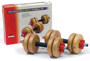 YORK V30 Spin Lock Dumbbell Set 11KG