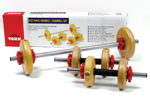 V22 Vinyl Barbell/Dumbbell plate Set