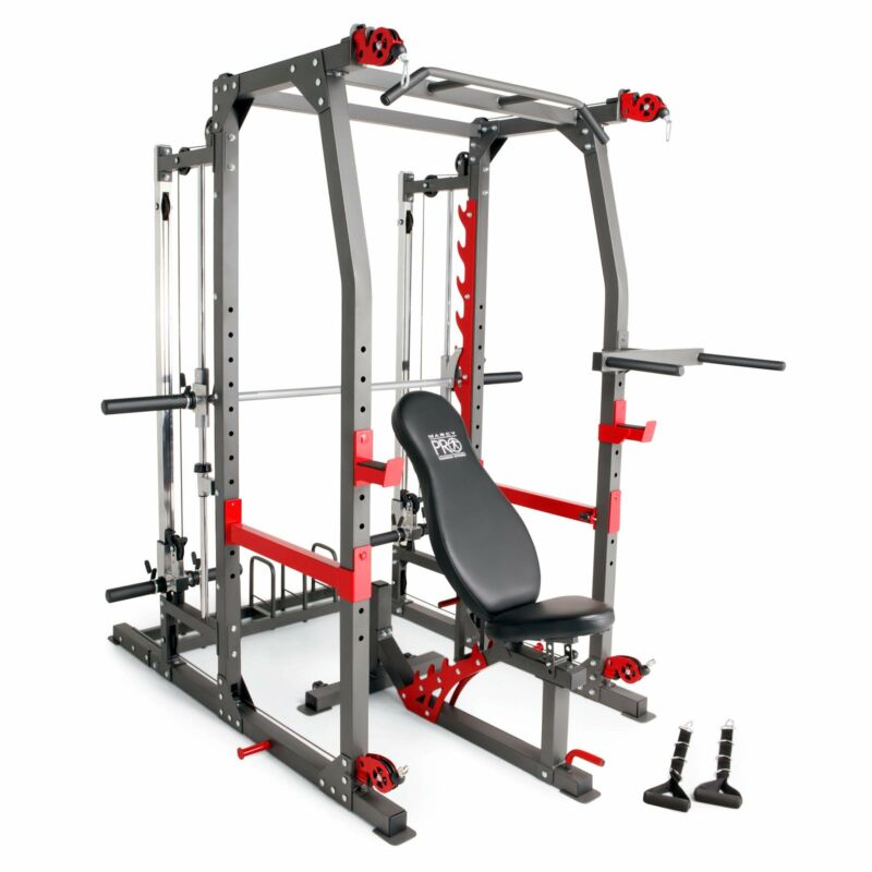 (PRE-SALE IN STOCK SEPT- 15-23  )MARCY PRO SMITH CAGE HOME GYM TRAINING SYSTEM | SM-4903