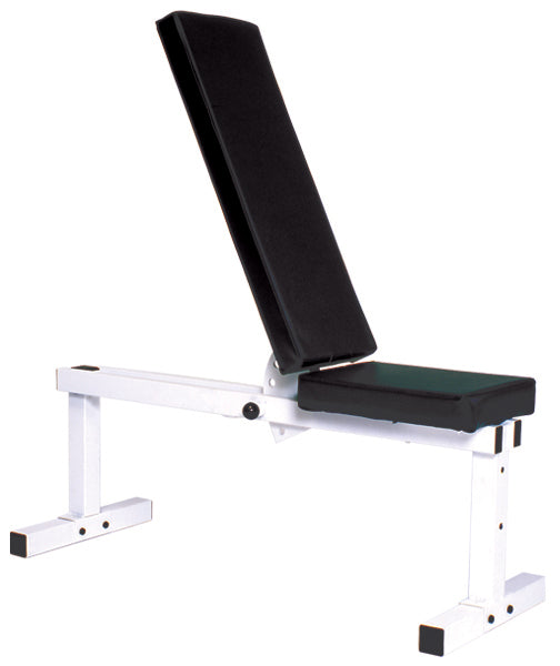 YORK Pro Series 205 FI White Flat Adjustable Incline DUMBELL Bench