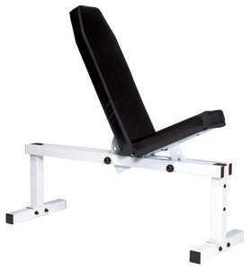YORK Pro Series Bench 305 FI White- Front Adjustable, Back Adjustable C/U