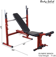 Load image into Gallery viewer, Best Fitness Olympic Bench with Leg Developer