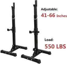 Load image into Gallery viewer, (PRE SALE  FOR 04/15 2021 ) SONFIT Pair of Adjustable Squat Rack Stands