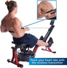 Load image into Gallery viewer, Stamina X Water Rower, Compact Rowing Machine with Heart Rate