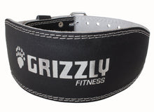 Load image into Gallery viewer, Grizzly Fitness Pacesetter Padded Genuine Leather Pro Weight Belt for Men and Women